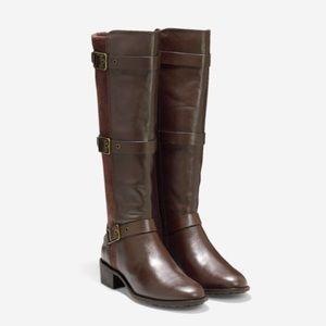 Cole Haan Salem Tall Boot Chestnut-Chestnut Suede
